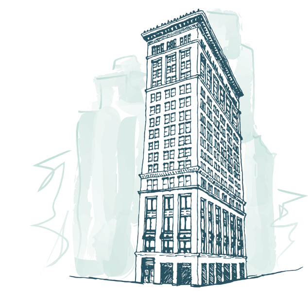 sketch of tall therapy office space rental in nyc