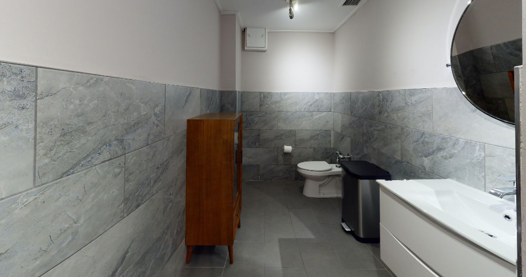 bathroom of a shared office space for therapists
