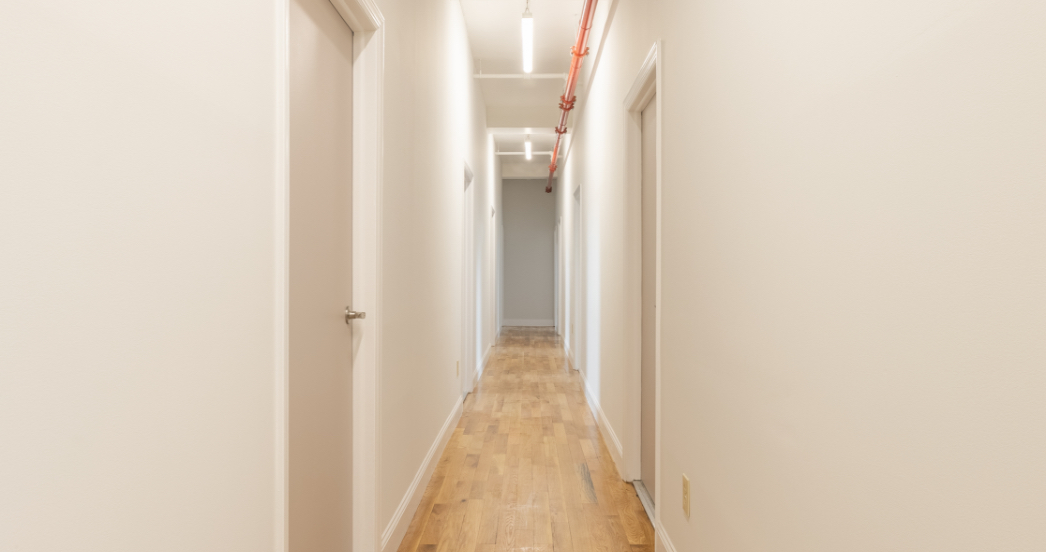 Hallway of psychotherapy office for rent