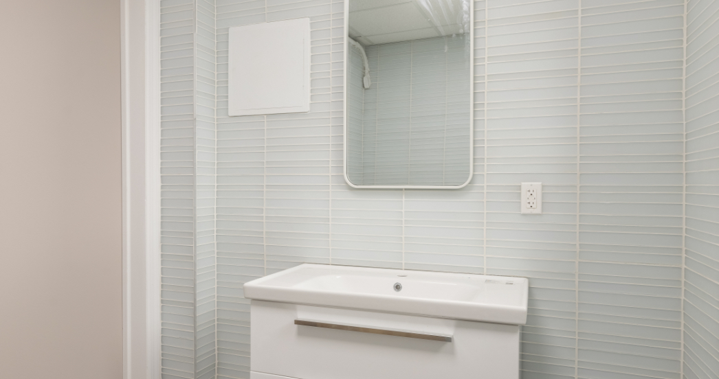 Bathroom in psychotherapy office in nyc